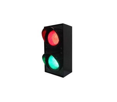 Светофор светодиодный двухсекционный вертикальный 12V DC
